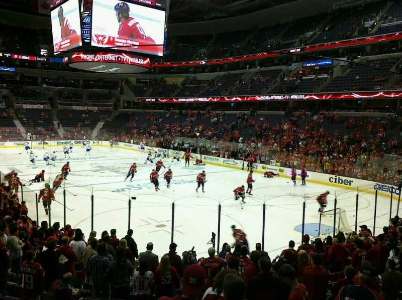 Seating view for Capital One Arena Section 118 Row V Seat 1