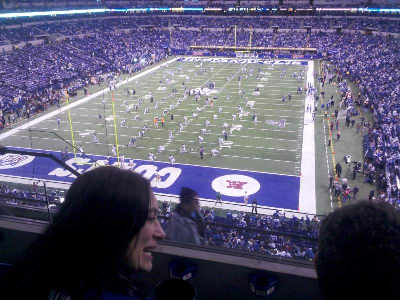 Seating view for Lucas Oil Stadium Section 451 Row 3 Seat 18
