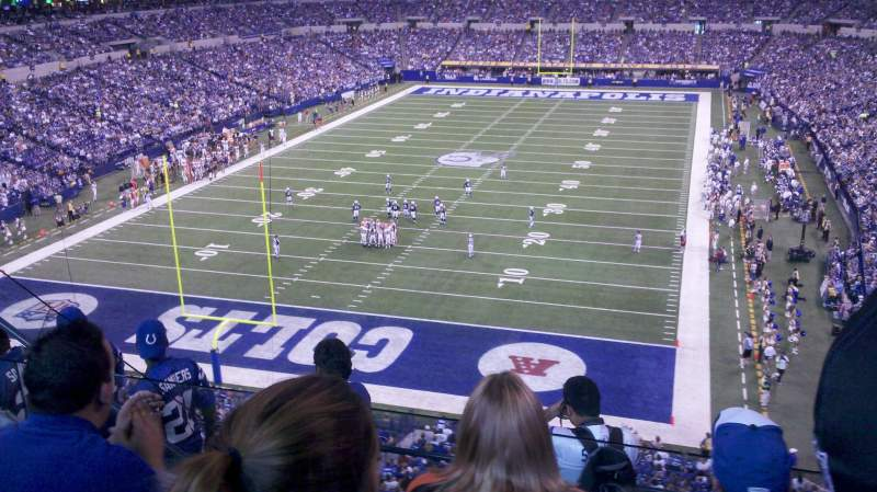 Seating view for Lucas Oil Stadium Section 451 Row 3 Seat 20