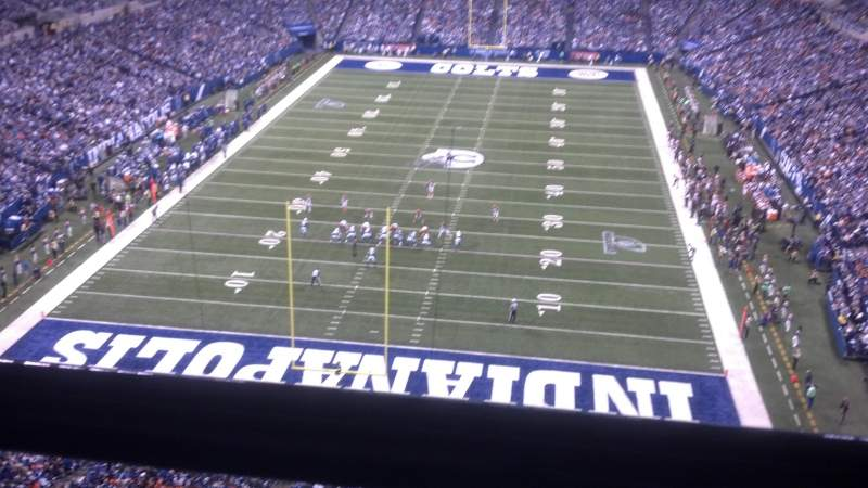 Seating view for Lucas Oil Stadium Section 526 Row 1 Seat 6