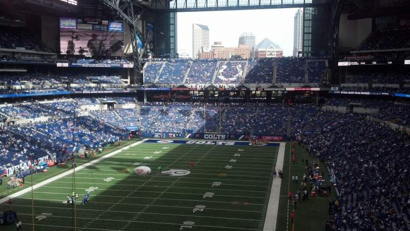Seating view for Lucas Oil Stadium Section 424 Row 8 Seat 10