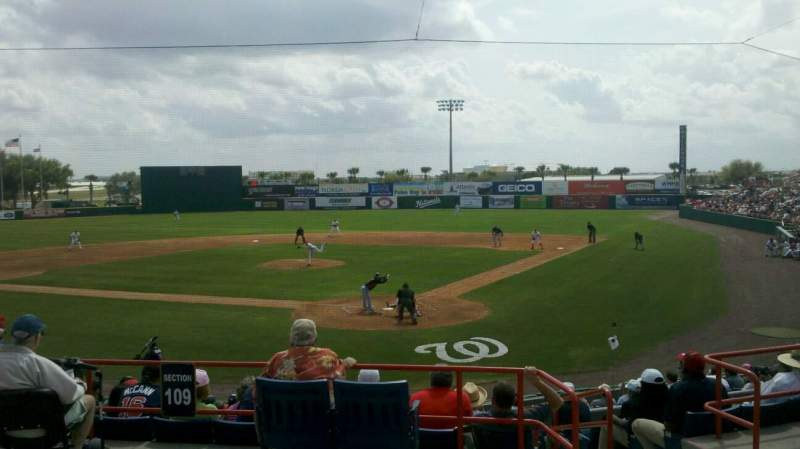 Seating view for Space Coast Stadium Section 209 Row 10 Seat 1