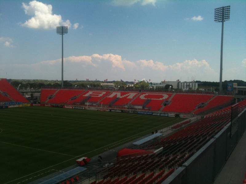 Seating view for BMO Field Section 225 Row 1 Seat 7