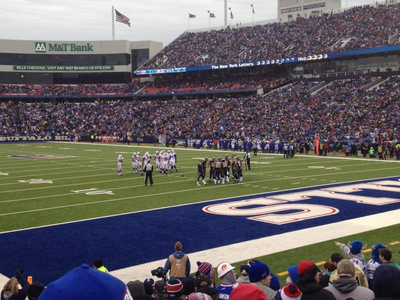 Seating view for New Era Field Section 104 Row 10 Seat 9