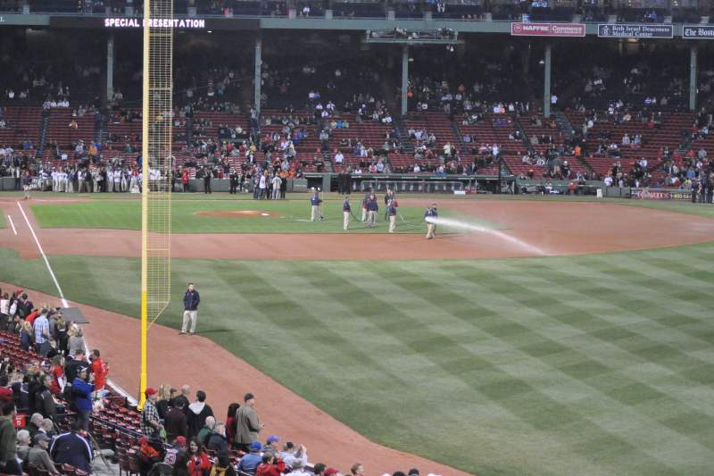 Seating view for Fenway Park Section Grandstand 4 Row 12 Seat 6