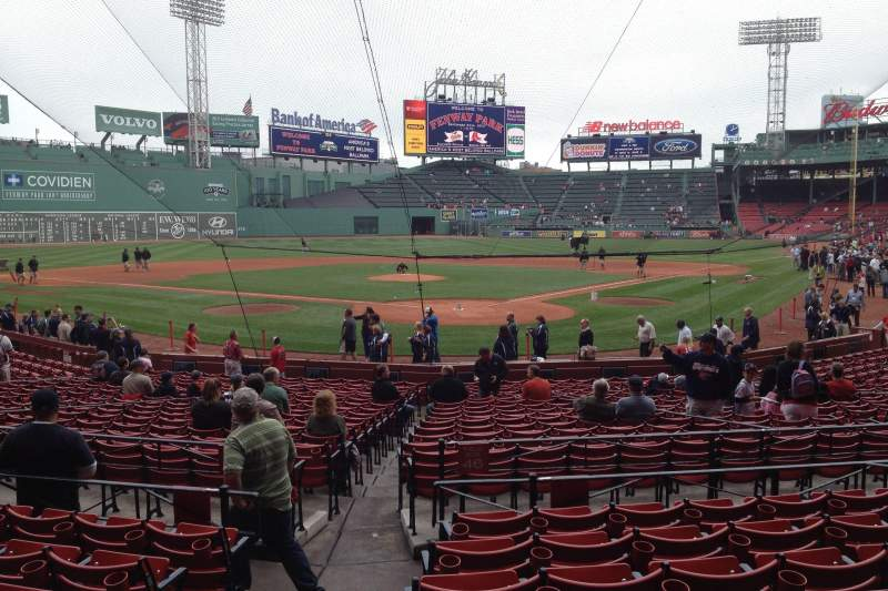 Seating view for Fenway Park Section Loge Box 131 Row GG Seat 2