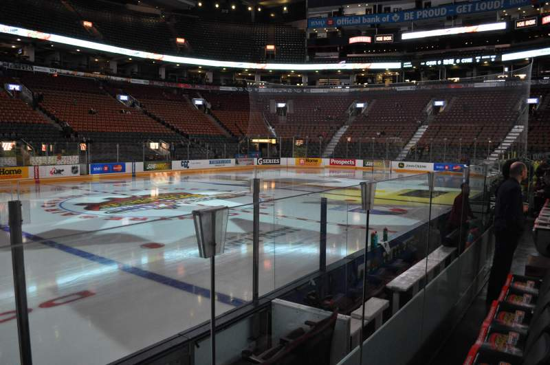 Seating view for Air Canada Centre Section 120 Row 1 Seat 8