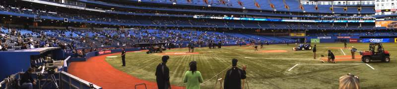 Seating view for Rogers Centre Section 116R Row 4 Seat 6