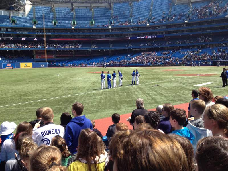 Seating view for Rogers Centre Section 130A Row 6 Seat 7