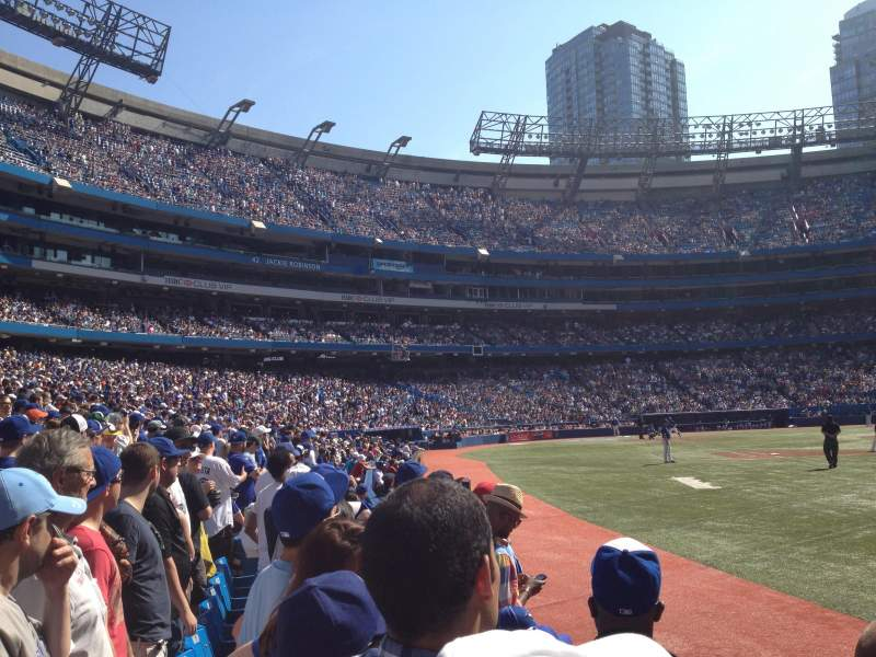 Seating view for Rogers Centre Section 113B Row 2 Seat 3