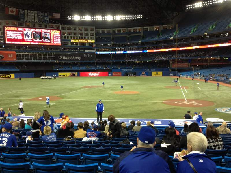 Seating view for Rogers Centre Section 124R Row 24 Seat 8