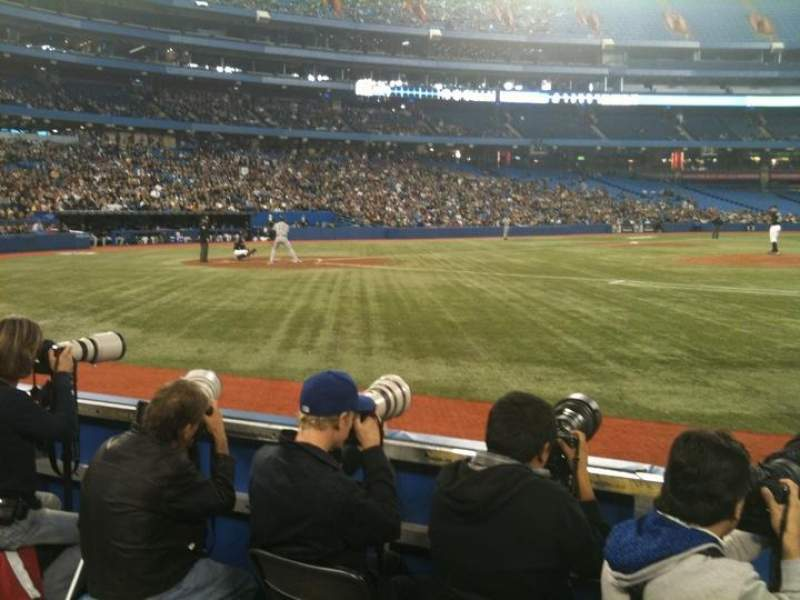 Seating view for Rogers Centre Section 117R Row 4 Seat 7
