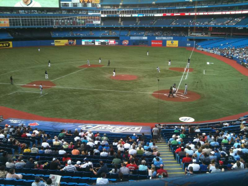 Seating view for Rogers Centre Section 226R Row 1 Seat 5