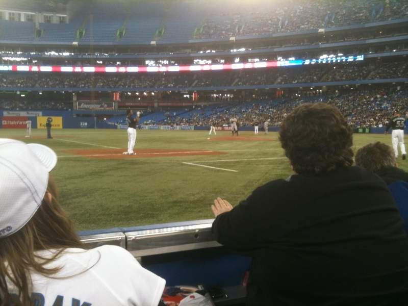 Seating view for Rogers Centre Section 127 Row 1 Seat 10