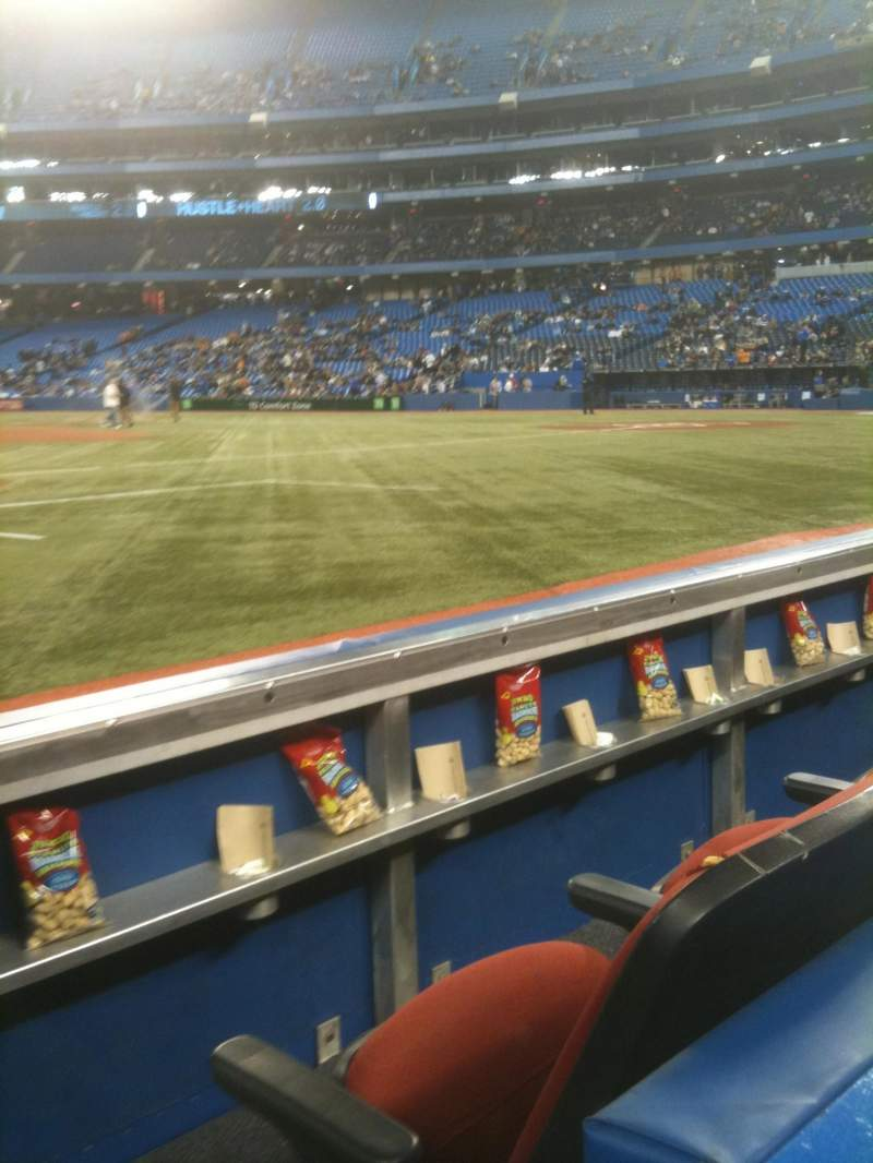 Seating view for Rogers Centre Section 127R Row 1 Seat 8