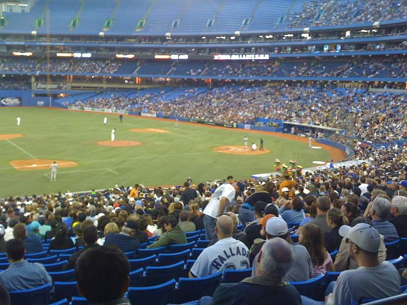 Seating view for Rogers Centre Section 128R Row 32 Seat 10