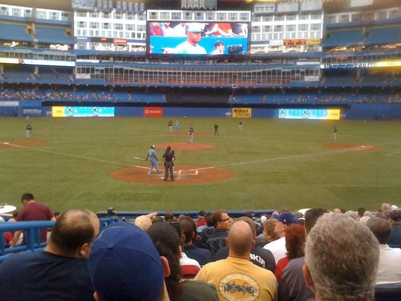 Seating view for Rogers Centre Section 121R Row 11 Seat 2