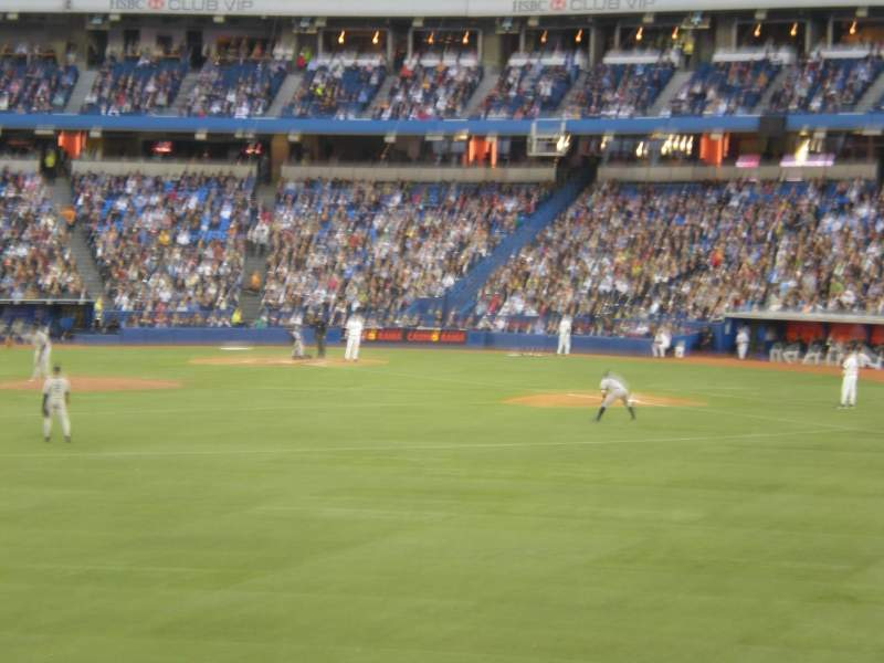 Seating view for Rogers Centre Section 138R Row 1 Seat 4