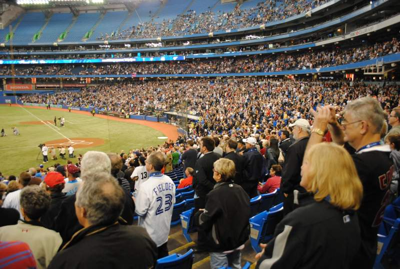 Seating view for Rogers Centre Section 124R Row 30 Seat 3