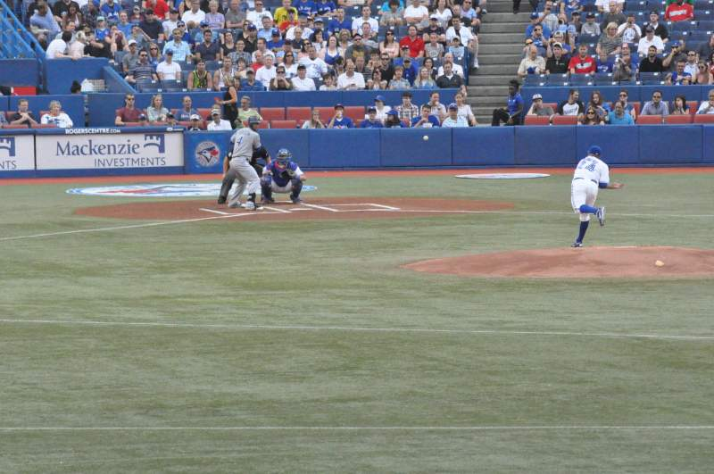 Seating view for Rogers Centre Section 104 Row 1 Seat 1