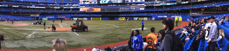 Seating view for Rogers Centre Section 117R Row 4 Seat 8