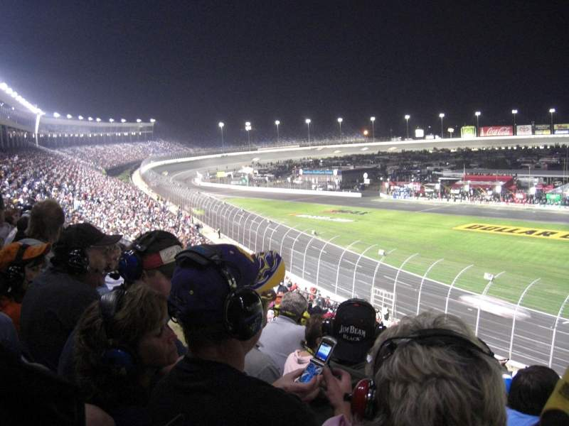 Seating view for Charlotte Motor Speedway Section Chry A Row 20 Seat 5