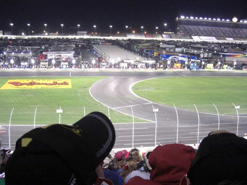 Seating view for Charlotte Motor Speedway Section Chrysler A Row 20 Seat 5