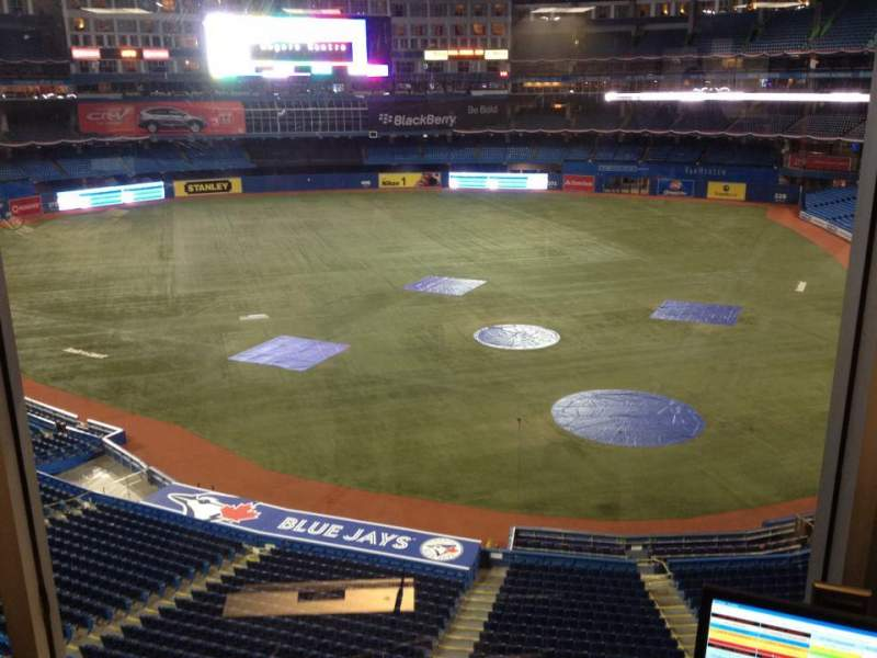 Seating view for Rogers Centre Section Press Box