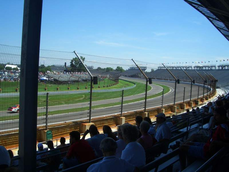 Seating view for Indianapolis Motor Speedway Section E Box 12 Row H Seat 12