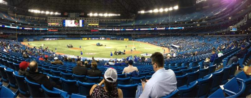 Seating view for Rogers centre Section 124 Row 32 Seat 108