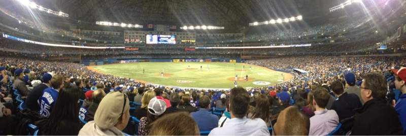 Seating view for Rogers centre Section 124L Row 32 Seat 108