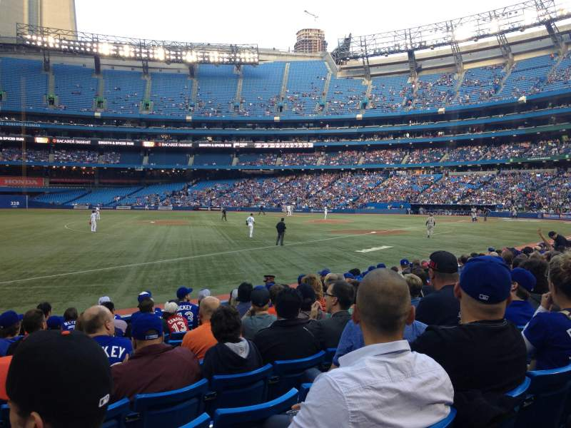 Seating view for Rogers Centre Section 130B Row 12 Seat 8