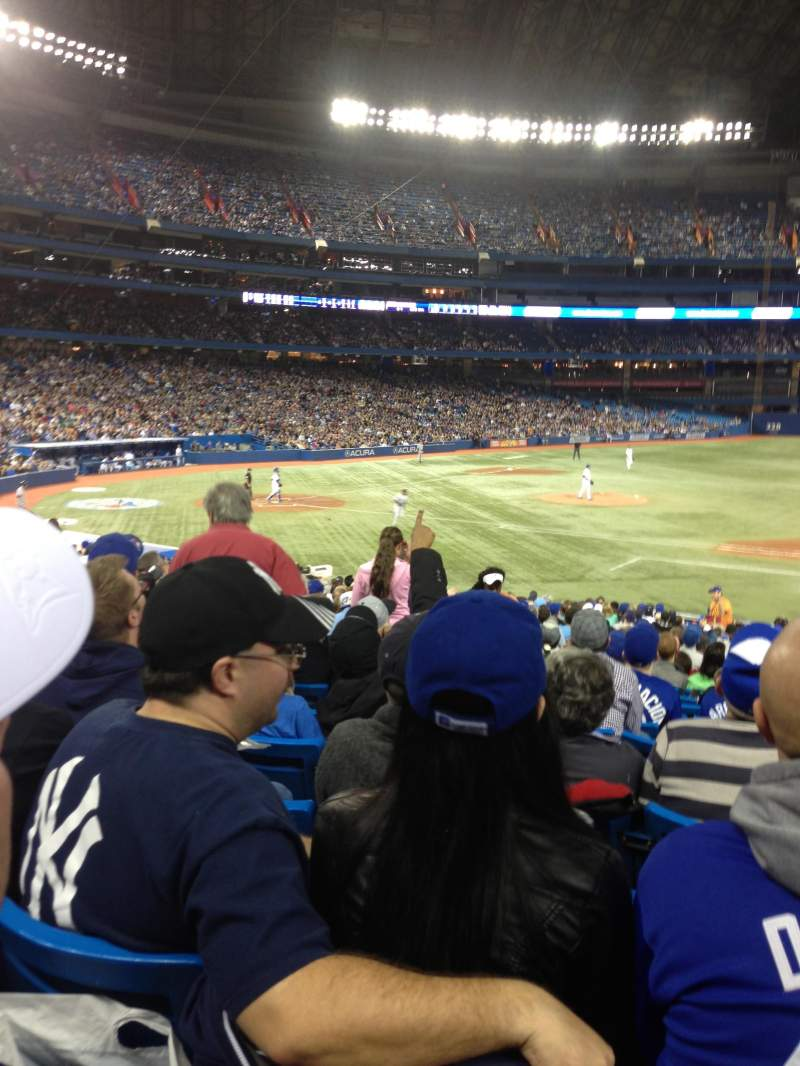 Seating view for Rogers Centre Section 116R Row 28 Seat 8