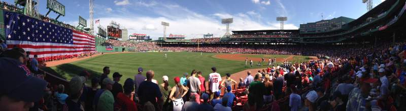Seating view for Fenway Park Section Loge Box 163 Row DD Seat 1