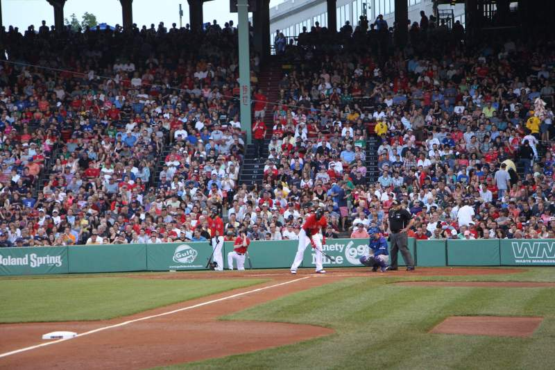 Seating view for Fenway Park Section Field Box 74 Row F Seat 1