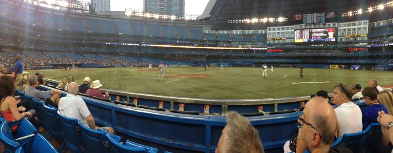 Seating view for Rogers Centre Section 115R Row 3 Seat 10