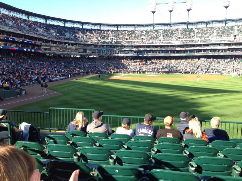 Seating view for Comerica Park Section 105 Row H Seat 17
