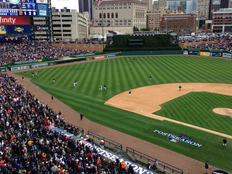 Seating view for Comerica Park Section 331 Row A Seat 1