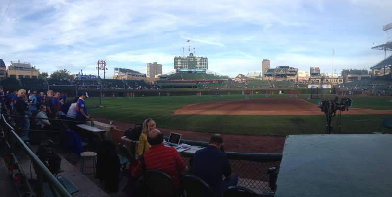 Seating view for Wrigley Field Section 12 Row 1 Seat 10