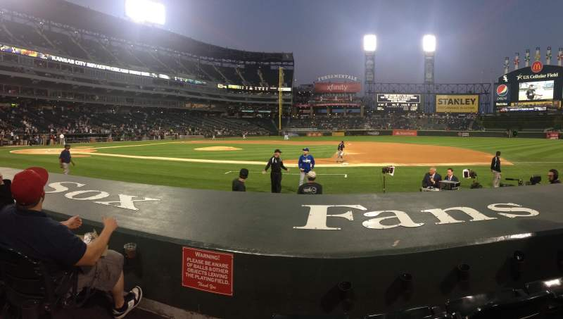 Seating view for U.S. Cellular Field Section 123 Row 3 Seat 10