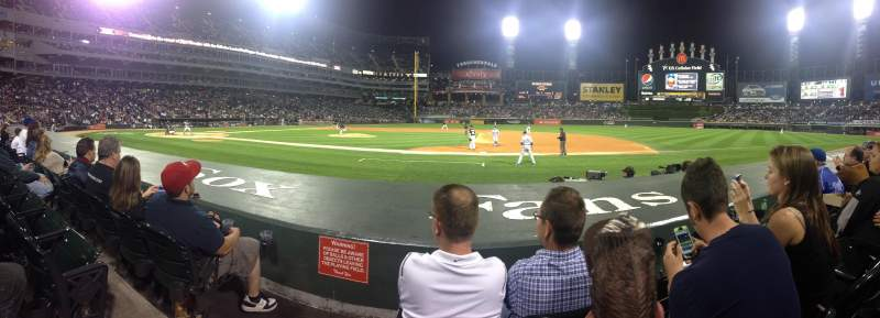Seating view for Guaranteed Rate Field Section 123 Row 3 Seat 10