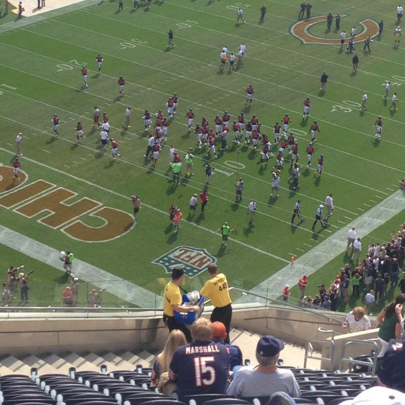Seating view for Soldier Field Section 446 Row 25 Seat 7