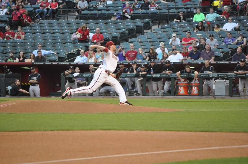 Seating view for Chase Field Section S Row AA Seat 10