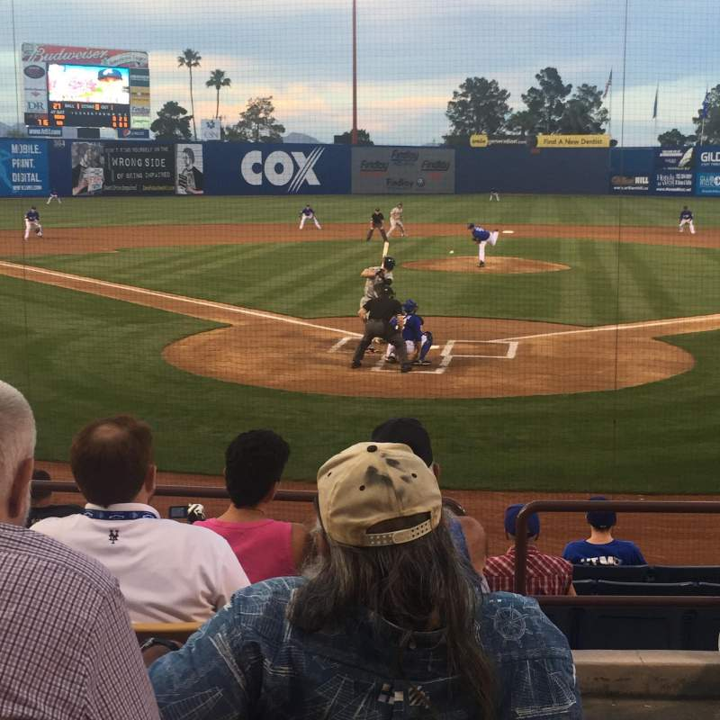 Seating view for Cashman Field Section 12 Row F Seat 10