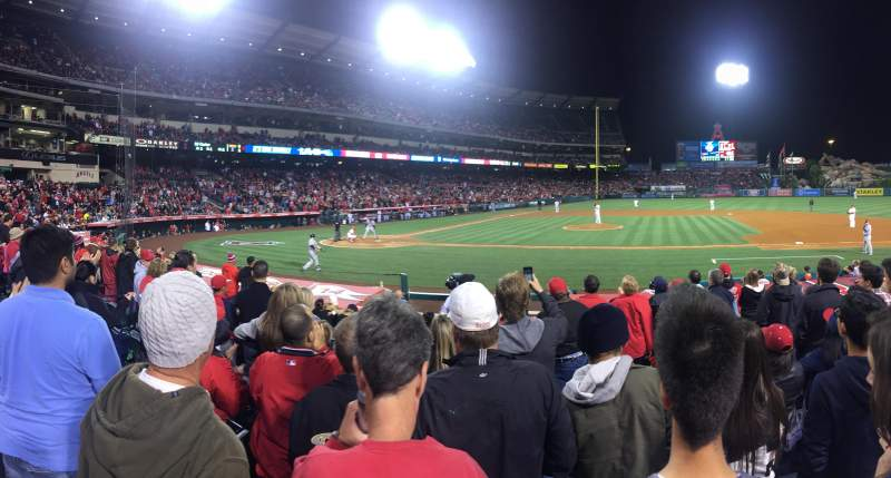 Seating view for Angel Stadium Section F124 Row L Seat 11