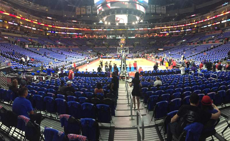 Seating view for Staples Center Section 107 Row 5 Seat 1