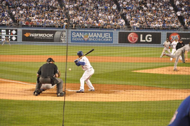 Seating view for Dodger Stadium Section 4FD Row D Seat 9