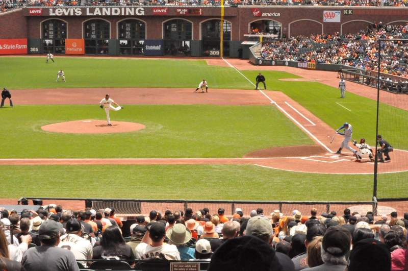 Seating view for AT&T Park Section 121 Row 35 Seat 1