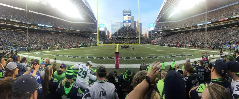 Seating view for CenturyLink Field Section 122 Row E Seat 8