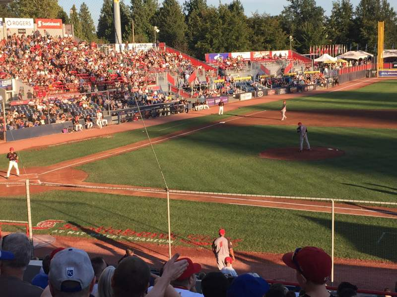 Seating view for Nat Bailey Stadium Section 1 Row 12 Seat 12